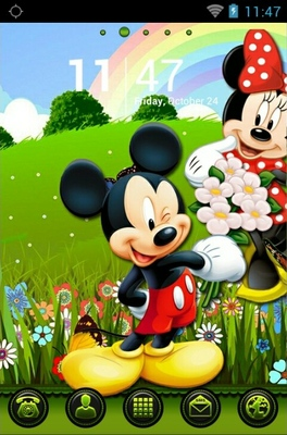 android theme 'Mickey And Minnie'