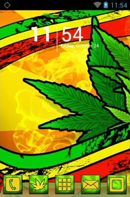 Marijuana android theme