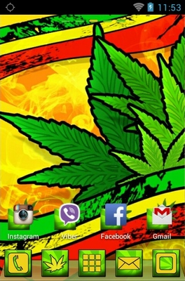 Marijuana android theme home screen
