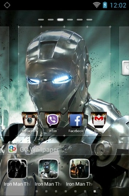 Iron Man android theme wallpaper