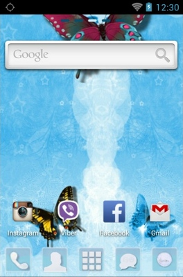 Butterfly android theme home screen