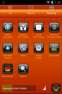 Fire Car android theme application menu