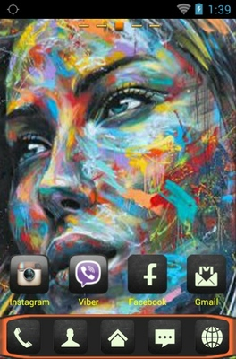 Graffiti android theme home screen
