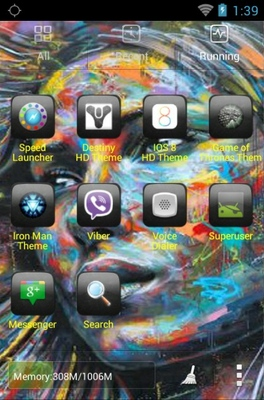 Graffiti android theme application menu