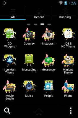 Spongebob Squarepants android theme application menu