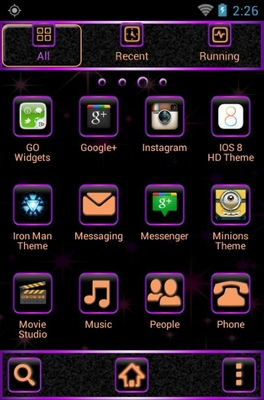 Babies android theme application menu