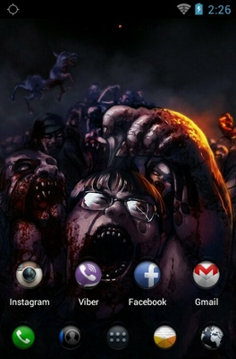 Zombie android theme home screen