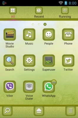 No Stop android theme application menu