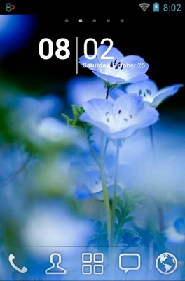 android theme 'Blue Flower'