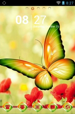 android theme 'Beautiful Butterfly'