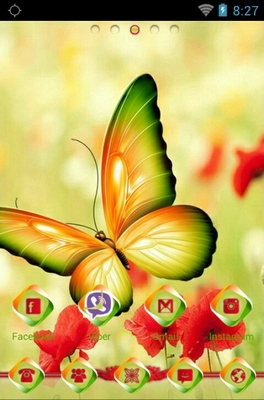 Beautiful Butterfly android theme home screen