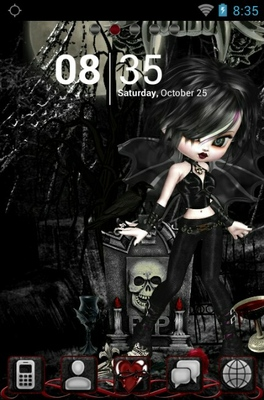 android theme 'Gothic Doll'