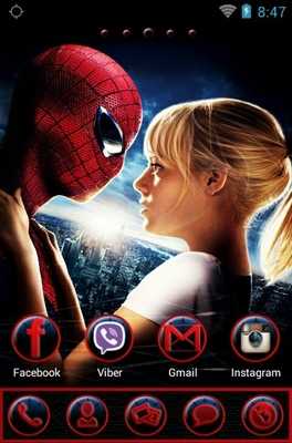 Spiderman android theme home screen