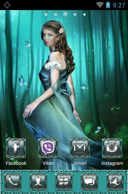 Fantasy Girl android theme home screen
