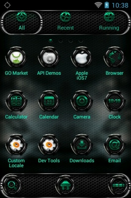 NFS android theme application menu