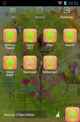 Summer Has Come android theme application menu