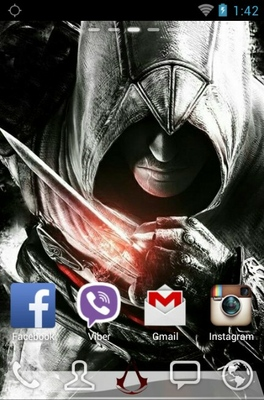 Assasins Creed android theme home screen