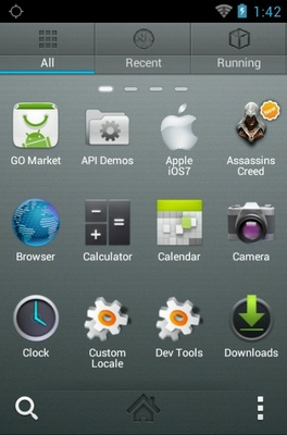 Assasins Creed android theme application menu
