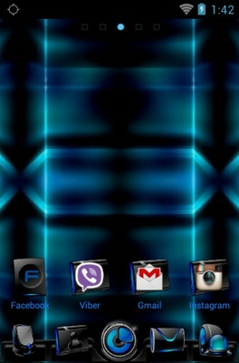 Azenis android theme home screen