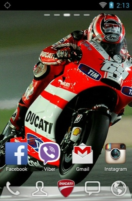 Ducati android theme wallpaper