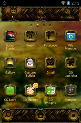 Kids android theme application menu