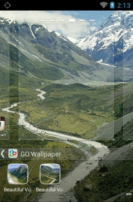Beautiful Valleys android theme wallpaper