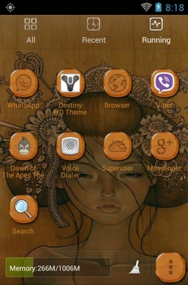 Girl Face Drawing android theme application menu