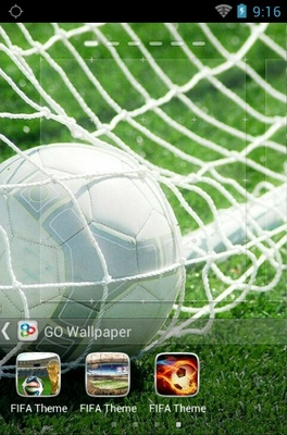 FIFA android theme home screen