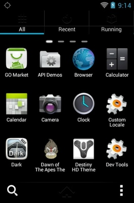 FIFA android theme application menu