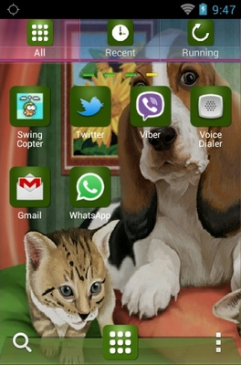 Dog Cats Release android theme application menu