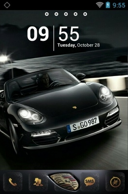 android theme 'Black Porsche'
