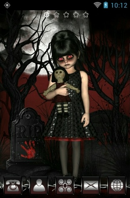 Dark Little Girl android theme wallpaper