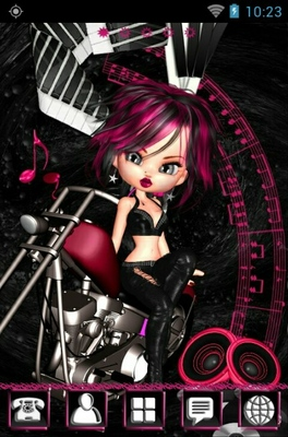 android theme 'Rockin Girl'