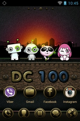 DC 100 android theme home screen