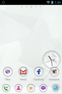 Magic Watch android theme home screen