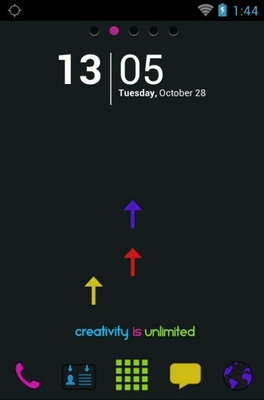 Creativity android theme home screen