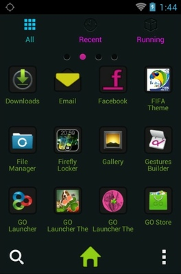 Creativity android theme application menu