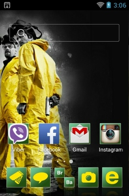 Breaking Bad android theme home screen