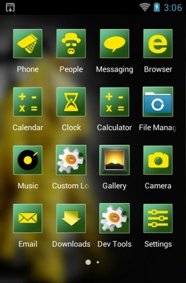 Breaking Bad android theme application menu