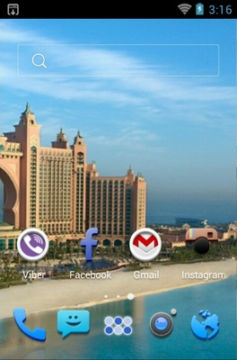 Atlantis Hotel android theme home screen