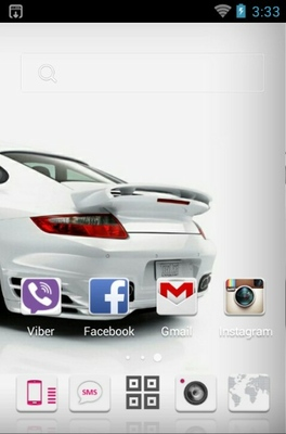 Porsche 911 android theme home screen