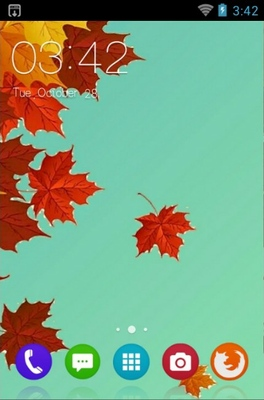 android theme 'Dry Leaf'