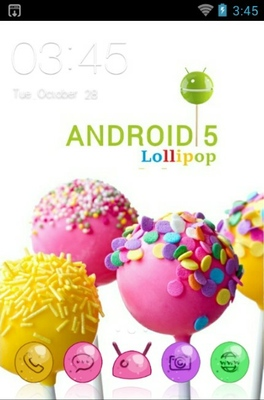 Lollipop android theme