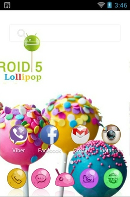 Lollipop android theme home screen