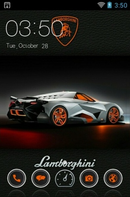 Lamborghini Android Theme For Clauncher Androidlooks Com