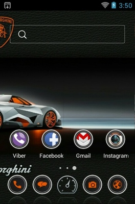 Lamborghini android theme home screen