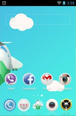 Unmanned Aircraft android theme home screen