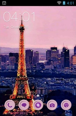 android theme 'I Love Paris'