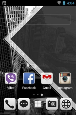 Black & White android theme home screen