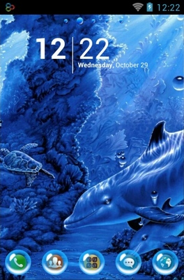 android theme 'Dolphins Life'
